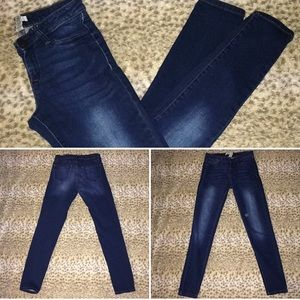 Dark wash straight leg refuge jeans